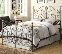 wrought iron bedroom furniture. White Cast Iron Bed Furniture Metal Full Size Steel King Wood Wrought Bedroom