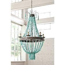 beaded turquoise chandelier regina andrew bubble