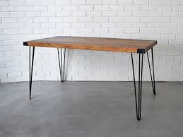 Hairpin dining table Oak Holy Funk Hairpin Retro Dining Table Black 15 Metres Holy Funk
