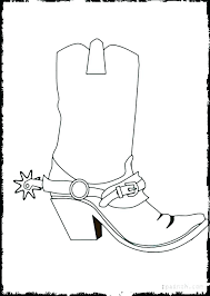 Cowboy Hat Coloring Page Cowboy Hat Coloring Page Boot With Boots