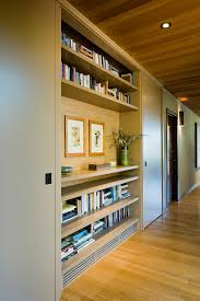 built in shelving will make your passageway much more practical