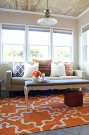 Orange Rug Living Room 17 Best Images About Living Room On Pinterest Leather Couches