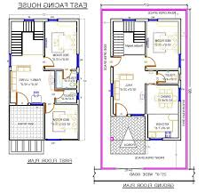 30 x 60 duplex house plans west facing fresh 20 60 house plan with car parking