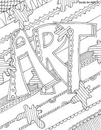 Doodle Art Coloring Pages Free Online