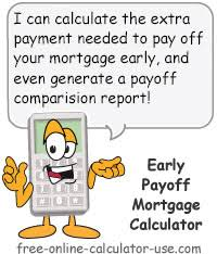Pay House Off Early Calculator Early Payoff Mortgage Calculator To Calculate Goal Payment