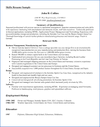 Summary Of Qualifications On A Resume Best Of 94 Summary Of