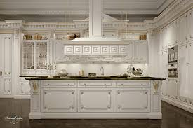 Classic Kitchen Classic Kitchen Wooden Island Lacquered Romantica Ivory