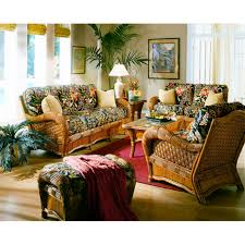 Living Room Wicker Furniture Spice Islands Kingston Reef 6 Piece Living Room Set Reviews