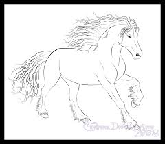 Friesian Horse Colouring Pages
