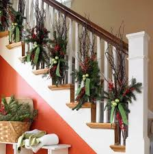 5. Traditional Red and Green Staircase Garlands