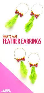 Design Your Own Hoop Earrings Beautiful Diy Feather Hoop Earrings Diy Earrings Diy