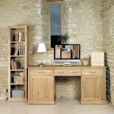 baumhaus mobel solid oak hidden home office. Mobel Oak Large Hidden Office Twin Pedestal Desk Baumhaus Solid Home I