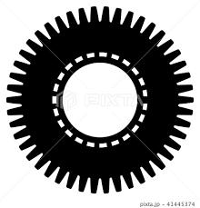 歯車 ギア 円 イラスト アイコンのイラスト素材 41445374 Pixta