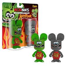 amazon com funko rat fink nodnik 2 pack toys games