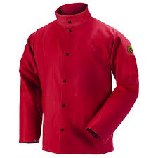 truguard 200 fr cotton welding jacket red