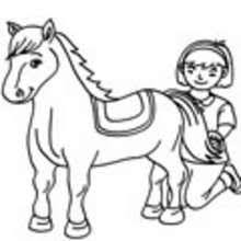 Small Picture Horse Coloring pages Drawing for Kids Reading Learning