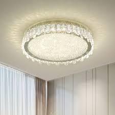 nickel led ceiling light fixture modern