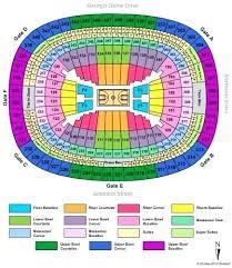 Georgia Dome Seating Map Herbalkecantikan Info