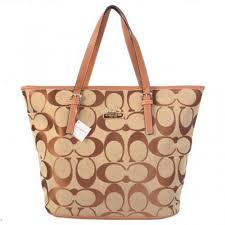 Coach Legacy In Signature Medium Khaki Totes ACT