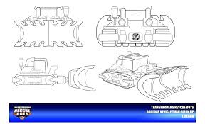 rescue bots printable coloring pages rescue bots boulder vehicle mode clean up by on free printable