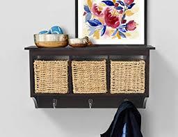 Storage Coat Rack With Baskets Mesmerizing Amazon AHDECOR Entryway Hanging Cubby Shelf Coat Rack Storage
