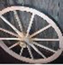 decorative wood wagon wheel 36 inch x 2 inch steam bent hickory wagon wheel with wooden hub