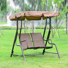 love seater patio garden swing chair hammock outdoor sling cover bench with canopy for s