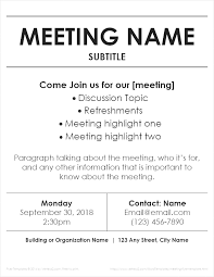 Word Flyer Template Meeting Flyer Templates For Word Meeting Flyer Coastal Flyers