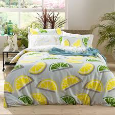 2017 autumn fruit duvet cover queen size lemon bed linens 100 cotton bedding set bed cover set cherry bedding flower in bedding sets from home