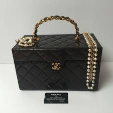 chanel vanity case bag. chanel handbags rare big vintage vanity case bag