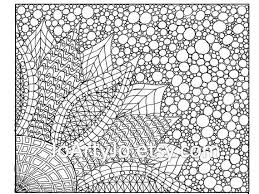 Coloring puzzle with numbers of color. Coloring Page Zentangle Inspired Flower Printable Page 2 Etsy Coloring Pages Flower Printable Zentangle