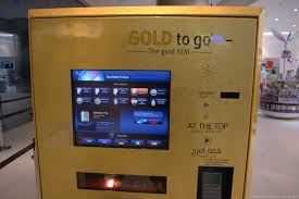 Gold Bar Vending Machine Classy Offbeat Images There's Gold In Them Thar Dubai ATMs Man On The