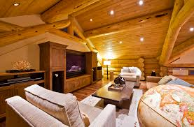 Cabin Log Home The Top Home Design - Log home pictures interior