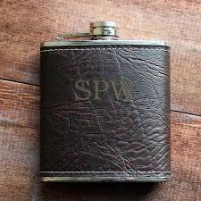dark brown textured leather flask personalized groomsmen gift 21st birthday gift for him birthday present groomsmen gifts