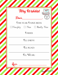 Christmas Wish List Printable Santa Claus Wish List Printable Christmas Printables 13