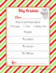 Christmas Wish List Printable Santa Claus Wish List Printable Christmas Printables 13