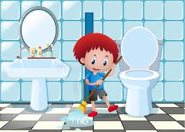 clean bathroom clipart. Wonderful Clipart Little Boy Cleaning Bathroom Bathtub Clipart Clean Bathtub Graphic Black  And White Library Inside Clean Bathroom Clipart I