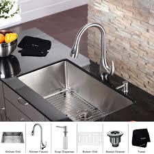 stainless steel kitchen sink combination kraususa inch discontinued kraus undermount single bowl gauge with runner kohler