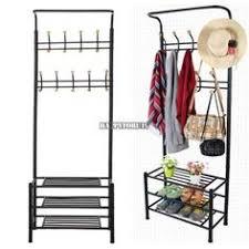 Coat Stand And Shoe Rack NRFI Furniture 100 Hook Metal Coat Hat Umbrella Clothes Rack Holder 58