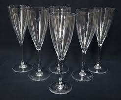 baccarat 6 water glasses or crystal champagne flutes dom perignon baccarat champagne flutes vintage baccarat crystal