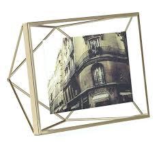 umbra metallic 4 x 6 picture frame matte brass photo mosh multi