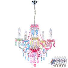 Hänge Lampe Kronleuchter Luster Dimmbar Fernbedienung Multicolor Im Set Inkl Rgb Led Leuchtmittel