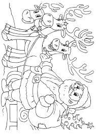 Kleurplaten Kerstman Met Slee