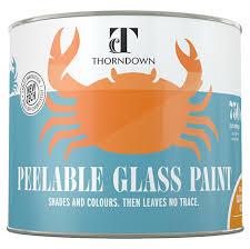 td glasspaint front 750ml information lable glass paint