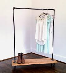 Industrial Pipe Coat Rack 100 Apart Over On Ehow Diy Industrial Pipe Garment Rack Rolling Coat 89
