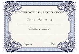Free Appreciation Certificates Thank You Certificate Of Appreciation Template Free 1