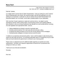 Cover Letter For A Customer Service Job Best Sales Customer Service Representatives Cover Letter