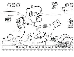 Mario Colouring Pages Online Cat Coloring Pages Super Bros Coloring