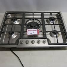 lot 167 smeg stainless steel 5 ring gas hob model pgf75sc63 size 72cm