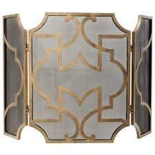 moroccan fireplace screen gold
